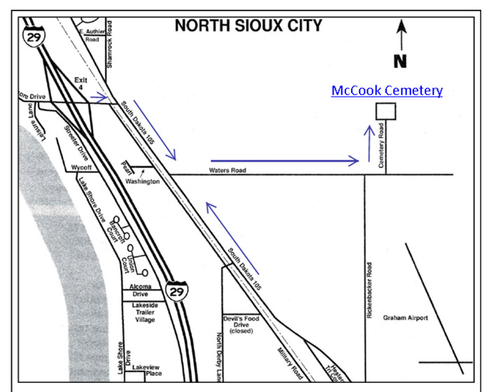 directions to McCook cemetary