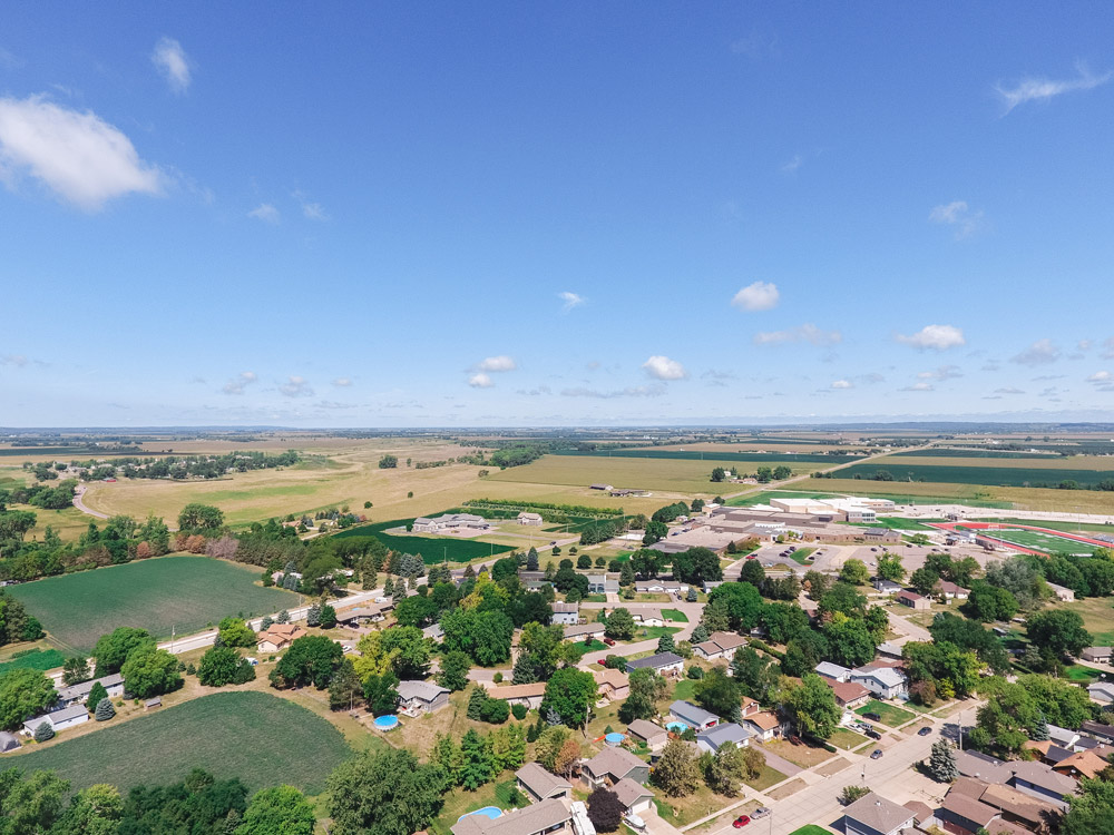 Aerial view of North Sioux City