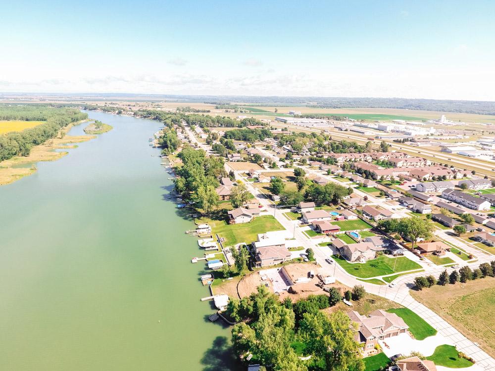 overhead river