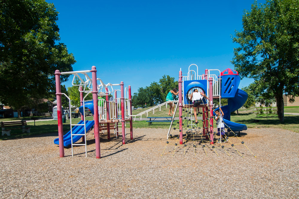Kids playing at North Sioux City park